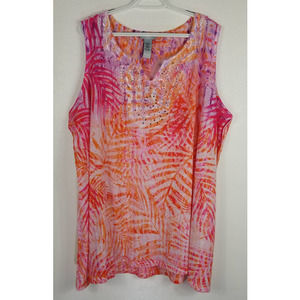 Catherines Multicolor Sleeveless Top